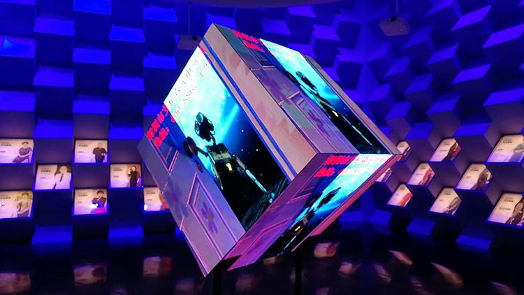 LED异形屏,LED立方体显示屏,六面体显示屏